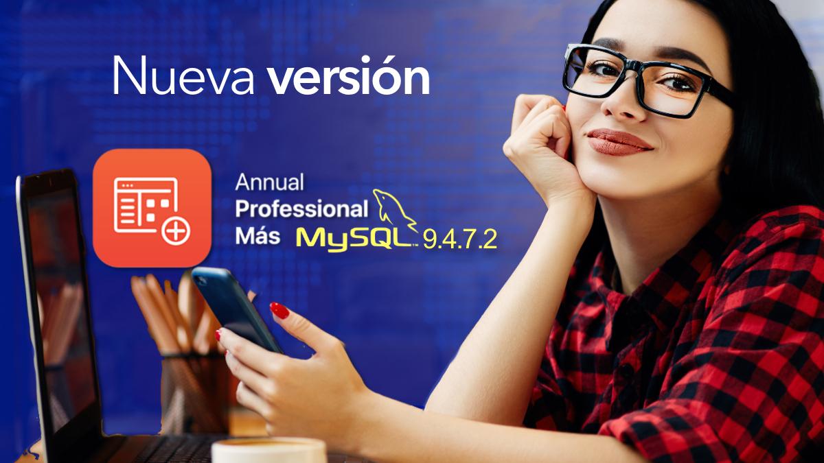 Nueva versión de Annual professional + MySQL