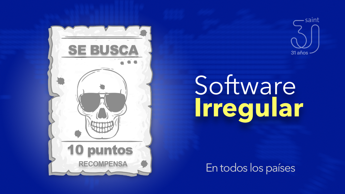 Se busca software irregular