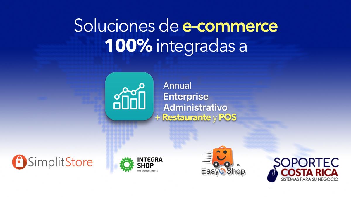 Soluciones e-commerce integradas a Annual enterprise administrativo