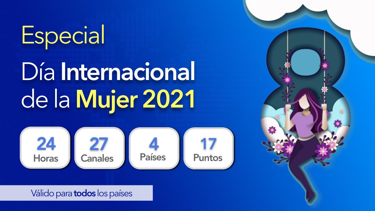Beneficiados del especial Día Internacional de la Mujer 2021 (24 horas)