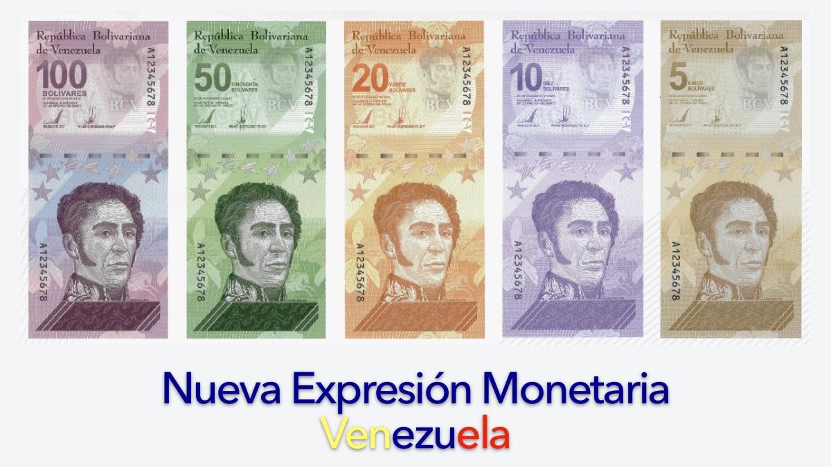 El 01 de octubre entra en vigencia el nuevo cono monetario en Venezuela